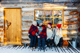 Family outdoors on winter - 174927430