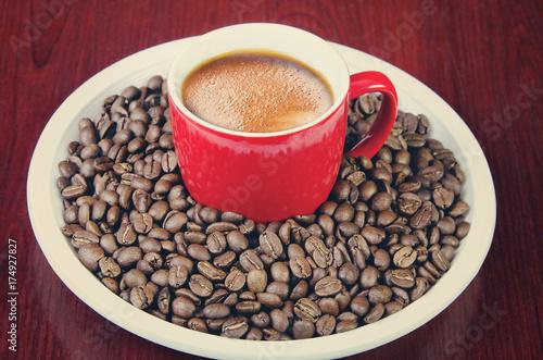 Papiers peints Café en grains сup of coffee