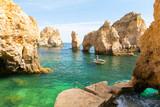 Fototapety beautiful cliff Ponta da Piedade in Lagos, Algarve, Portugal