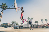 Friends playing basketball - 174928473