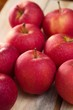 Group of red apples with fresh