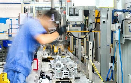 Automobile production line Poster