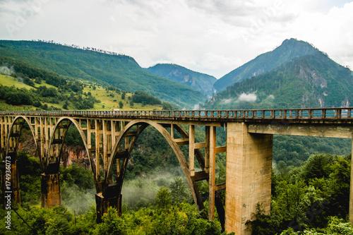 Fotobehang Bergrivier Mountain landscape, Montenegro