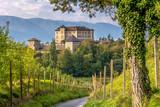 Castle Thun, Trentino Alto-Adige. The castle is located in the commune of Ton in the lower Val di Non, Trentino Alto Adige, Italy - 174937834