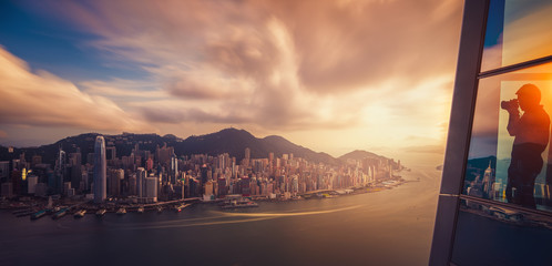 Hongkong city skyline