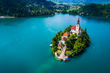Slovenia - resort Lake Bled. - 174944256