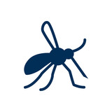 Isolated Mosquito Icon Symbol On Clean Background. Vector Gnat Element In Trendy Style. - 174949298