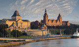 panorama of the city of Szczecin in Poland - 174958097
