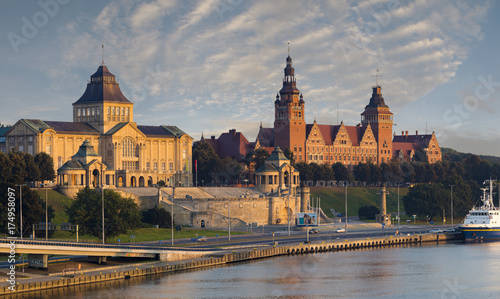 panorama of the city of Szczecin in Poland