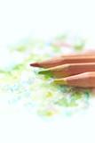 Watercolor pencils on paper - 174963401