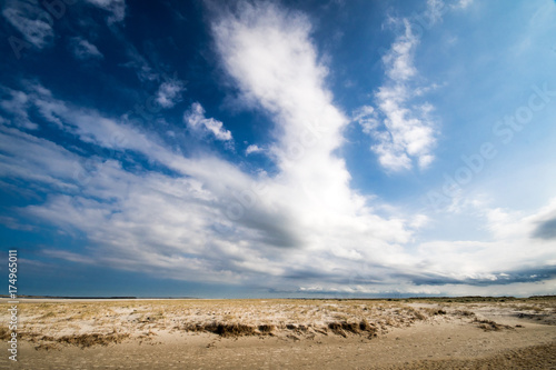 Deurstickers Noordzee Nordsee, Strand auf Langenoog: Dünen, Meer, Entspannung, Ruhe, Erholung, Ferien, Urlaub, Meditation :)