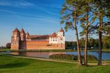 Belorussian tourist landmark attraction Mir Castle at summer season.. - 174968053