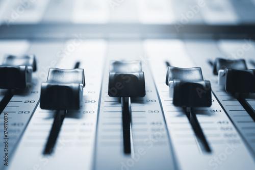 sound mixer. recording studio. Poster