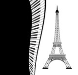 eiffel tower with piano