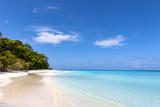 Sandy Beach on the island. - 174973891