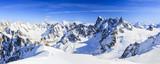 Mont Blanc mountain, view from Aiguille du Midi Mount at the Grandes Jorasses  in the french alps above Chamonix - 174974086
