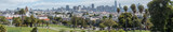 Panoramic View of San Francisco Park with Downtown Skyline in the background