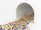 Cartoon Crowd, Tunnel Arch