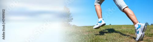 Fotobehang Hardlopen Jogging woman legs