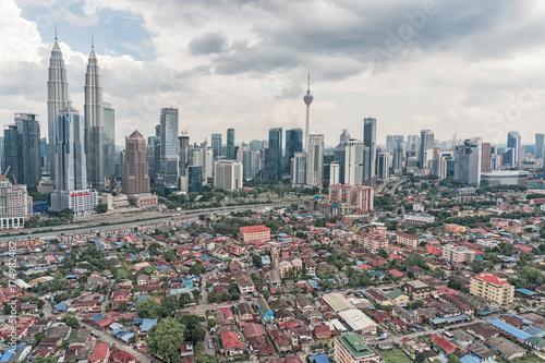 Top view of Kuala Lumpur city, Malaysia Poster