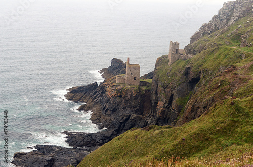 Botallack Mine and coastline,St Just,Cornwall Poster