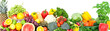 Vegetables and fruits background - 174984077