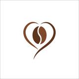 Coffee bean logo abstract design vector illustration template