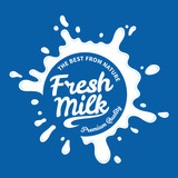 Milk logo template. Milk, yogurt or cream splash - 174991233