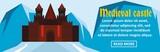 Medieval castle banner horizontal concept - 175007027