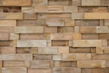 layer of wood plank arranged as a wall - 175009240