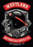skull of vintage racer - 175011495