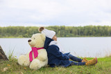 girl with Teddy bear - 175012462