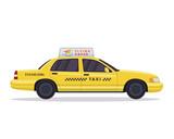 Fototapety Modern Urban Yellow Taxi Vehicle Illustration