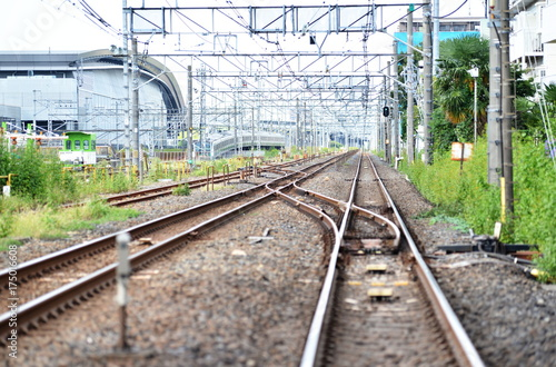 Staande foto Spoorlijn railway