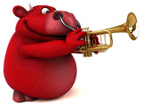 Fun red bull - 3D Illustration - 175018012