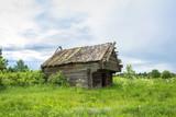 Collapsing barn in the defunct village Burdovo. - 175018626