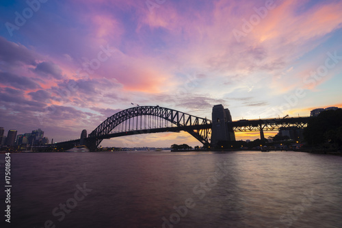 Staande foto Sydney Sydney Harbour Bridge at sunset