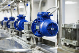 A number of electric motors with reducers. Tanks for mixing liquids. - 175021047