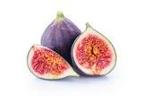 Fresh figs isolated on white background. - 175022297