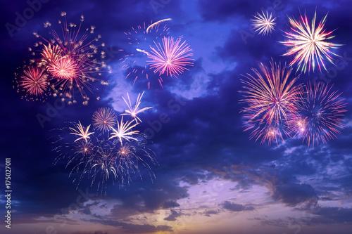 Poster Beautiful holidays fireworks