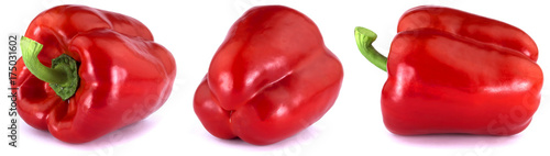 Keuken foto achterwand Verse groenten Red Bulgarian pepper isolated on white background