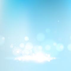Blue bokeh abstract light background. Vector illustartion.