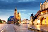 Krakow, Poland at night - 175033615
