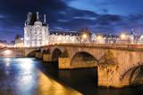 Louvre Museum and Pont des arts, Paris - France - 175033691
