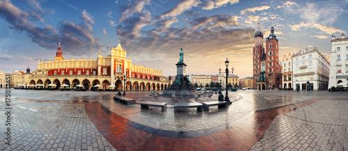 Krakow Market Square, Poland - panorama