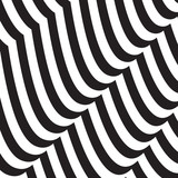 Abstract twisted black and white background. Optical illusion of distorted surface. Twisted stripes.  - 175035056