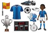 soccer object set - 175035656