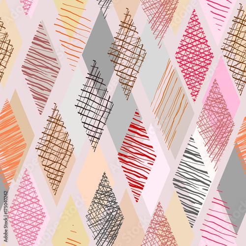 koloru-doodle-w-rhombus-ksztalcie-z-bezszwowym-tlem