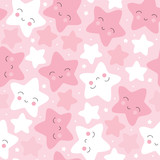 seamless pastel star pattern vector illustration