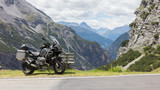 Unrecognisable motorcycle and driver in the Alps - 175052856